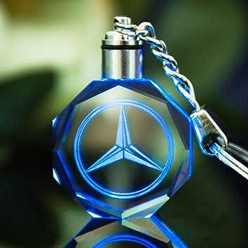 VILLSION LED Logo Portachiavi Auto Multicolore Luce di Cristallo Vieni con Pacco Regalo