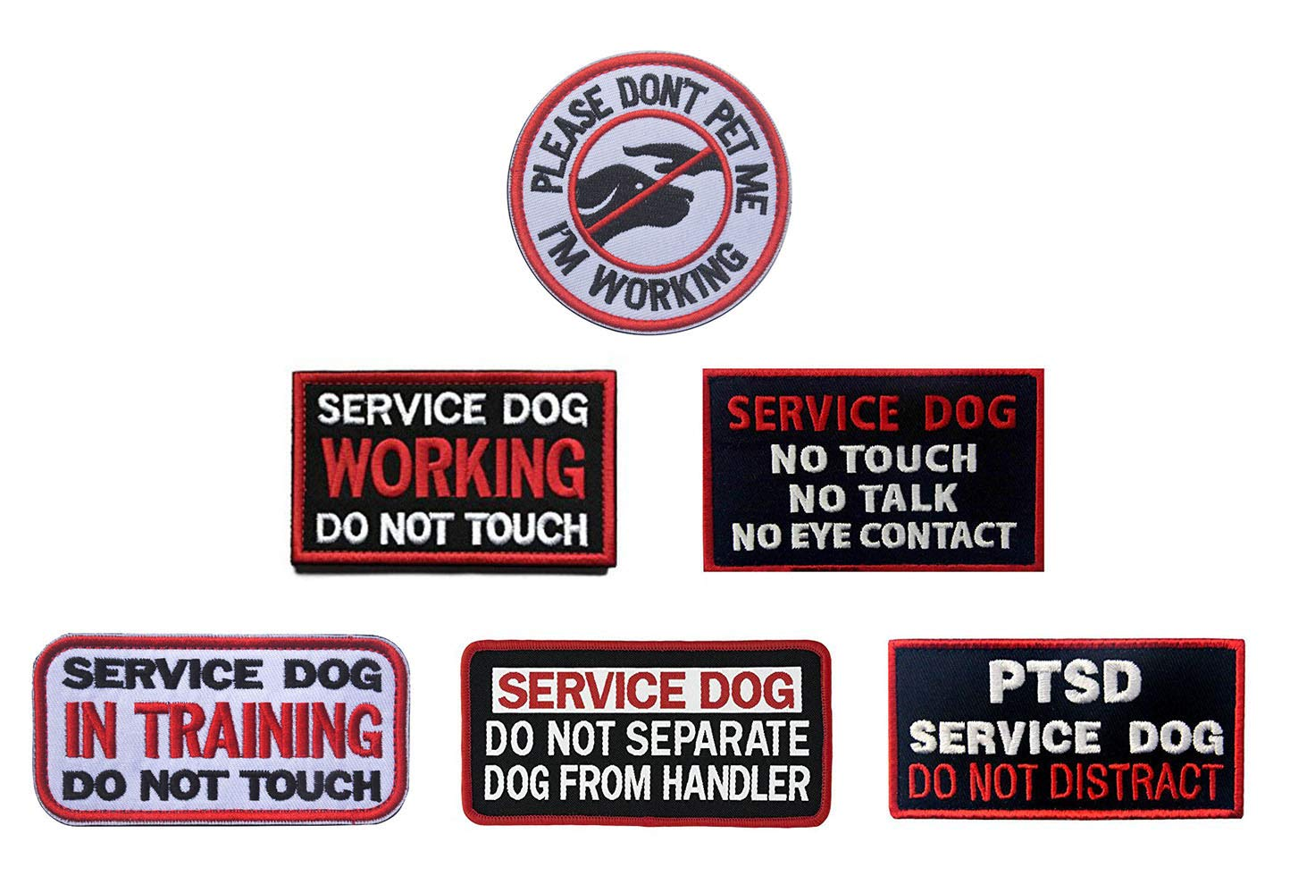 "3/"" PLEASE DON/'T PET ME Service Dog Patch Iron on Embroidered patches"