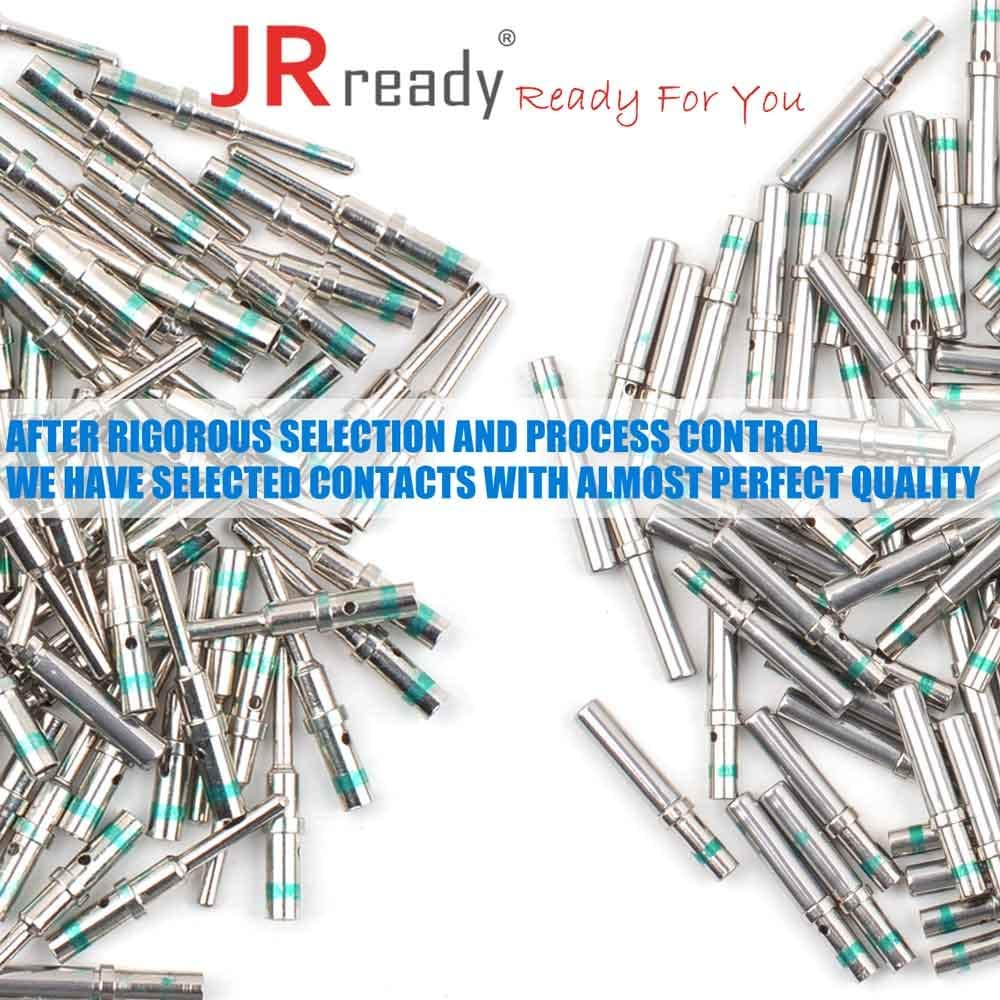 Deutsch Terminal Kit Contact Size 16 100 Pair Male 0460-215-16141//Female 0462-209-16141 Solid Contacts Wire Gauge 14 by JRready