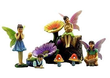 fairy garden accessories kit with miniature fairies 7 pieces supplies by pretmanns. beautiful ideas. Home Design Ideas