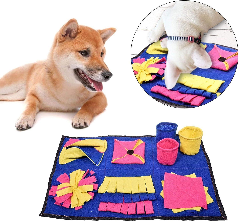 Dog Snuffle Mat xingling Dog Feeding Mat Large Dog Training Pad Pet Nose Work Blanket Non Slip Pet Activity Mat Perfect For Large Medium Small Dogs 70x45cm
