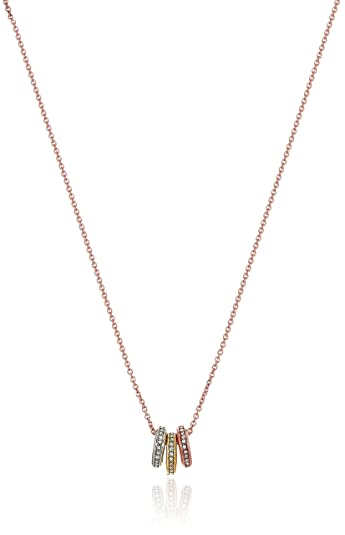 gold v gauge tone p bead chain tritone tri necklace