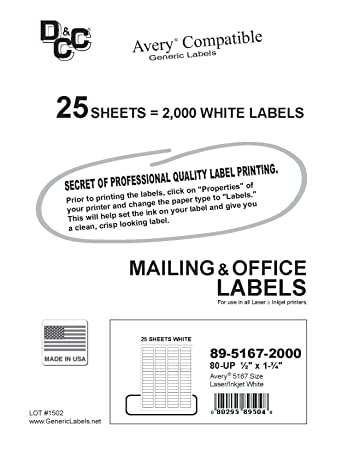 amazon com 25 sheets dcc generic white self adhesive return