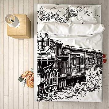 Amazon.com: Juego de ropa de cama de 4 piezas, diseño de ...