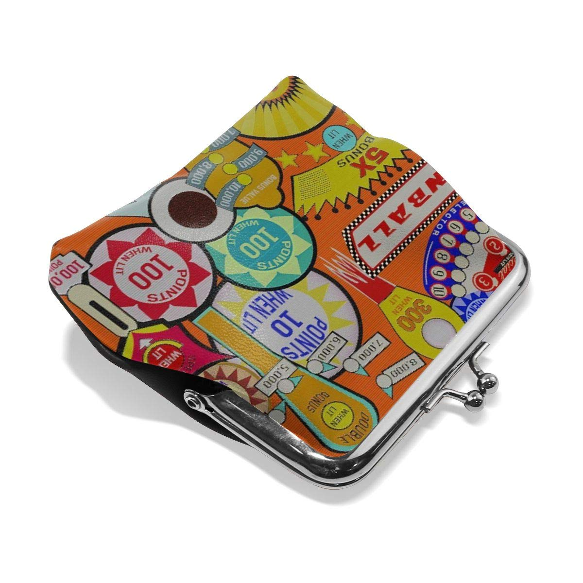 TYDhey Pinball Classic Buckle Coin Purses Leather Kiss-Lock Change Wallets