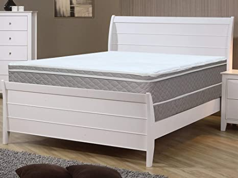Size Continental Sleep Medium Plush Eurotop Pillowtop Innerspring Mattress and 8 Metal Boxspring//Foundation Set Twin