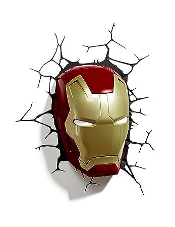 Amazon 3d light fx marvel iron man mask 3d deco led wall 3d light fx marvel iron man mask 3d deco led wall light aloadofball Image collections