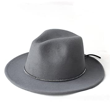 Best Choise Cappello Invernale in Feltro Sombrero da Donna Cappello Fedora  Panama da Uomo Cappellino Ampio dc4f8eef12d4