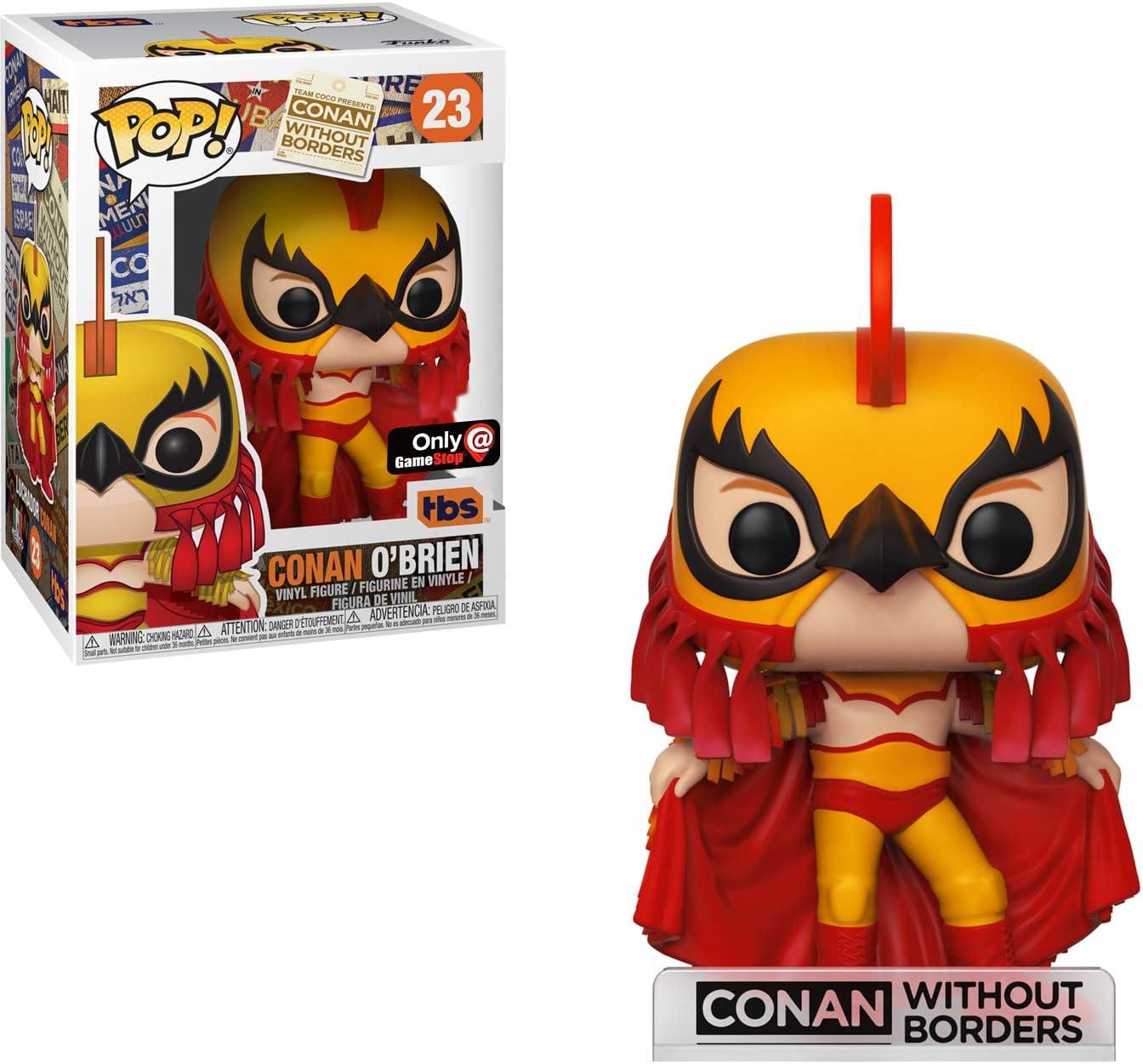 Vinyl Figure /& 1 POP GameStop Exclusive : Conan Without Borders x POP Funko Conan OBrien Compatible PET Plastic Graphical Protector Bundle #024 // 34930 - B