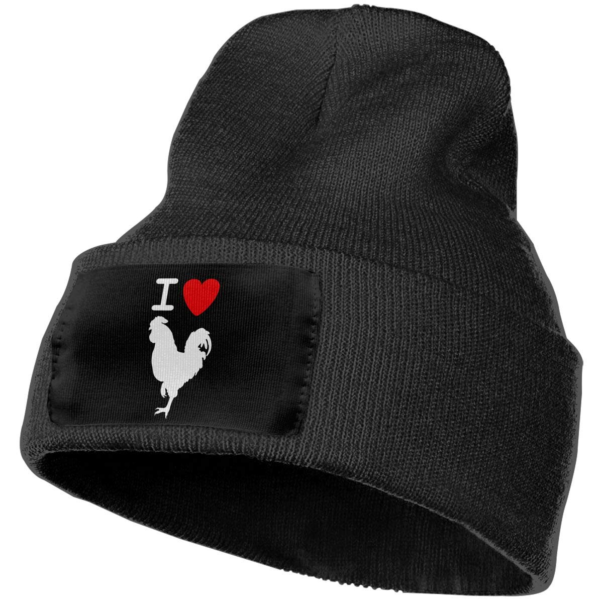 Men /& Women I Love Cock Outdoor Warm Knit Beanies Hat Soft Winter Knit Caps