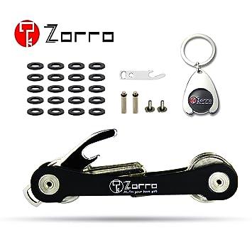Zorro - Llavero compacto y elegante con bolsillo organizador ...