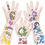 Temporary Tattoos for Kids - Glitter Tattoo Stickers,Gradient Color Fake Tattoo Stickers,Party Favor Supplies Party Decoratio