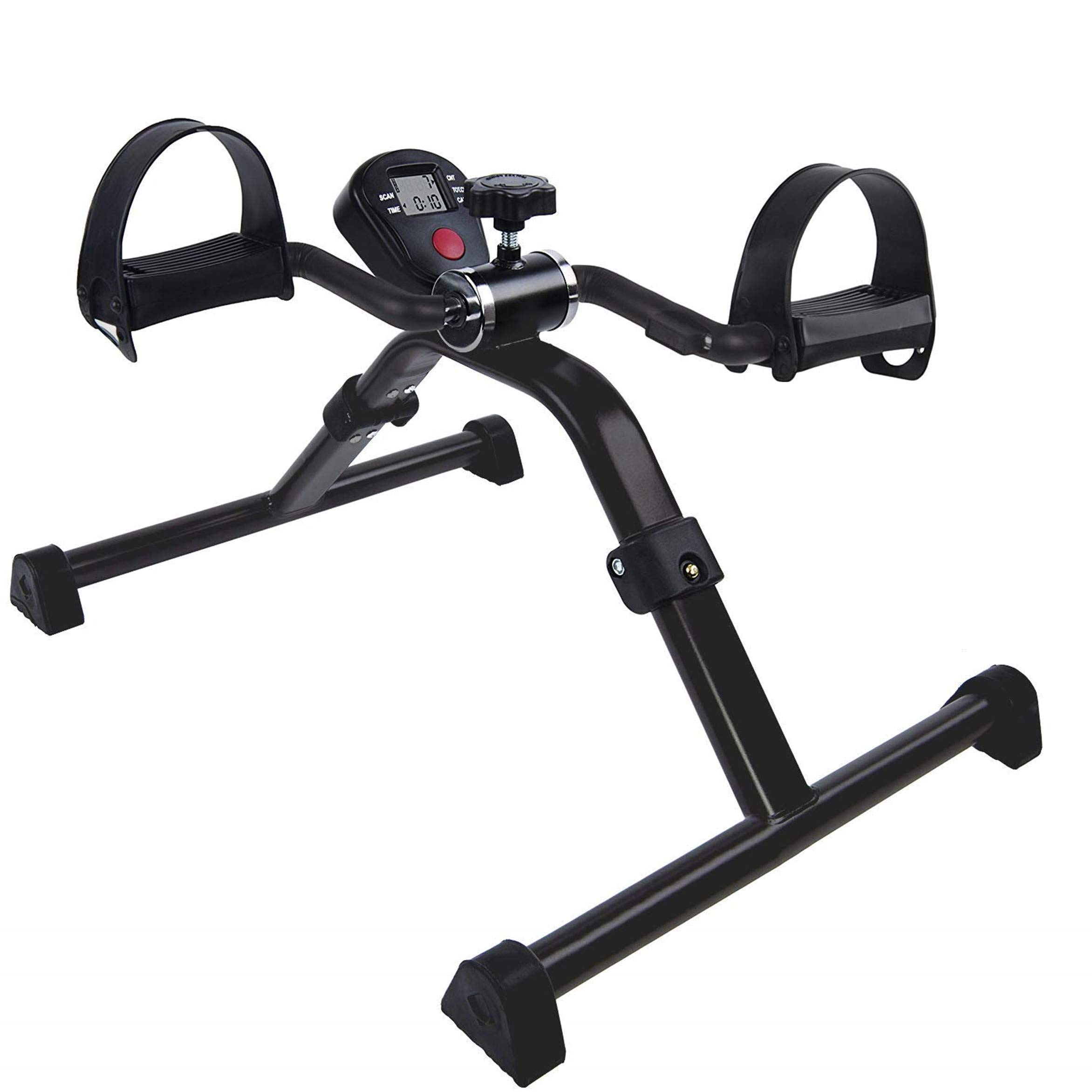 Vaunn Medical Folding Pedal Exerciser with Electronic Display for Legs and Arms Workout (Fully Assembled Exercise Peddler, no Tools Required) by Vaunn