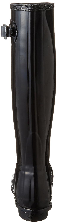 Hunter Women's Original Tall Rain Boot B00N3ZHQ42 5 B(M) US|Gloss Black