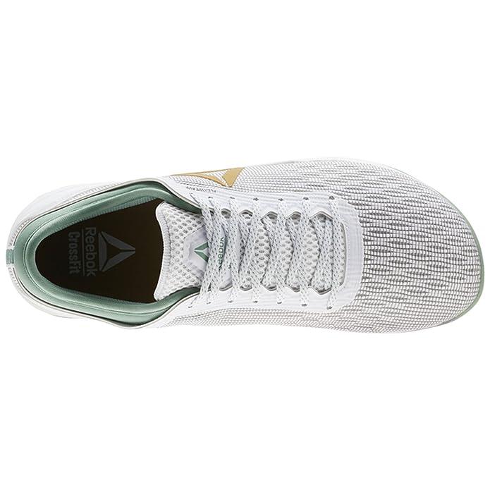 37e31a160c56 Reebok Crossfit Nano 8 Flexweave Shoe Men s Crossfit 10.5  White-Gold-Industrial Green  Amazon.co.uk  Shoes   Bags