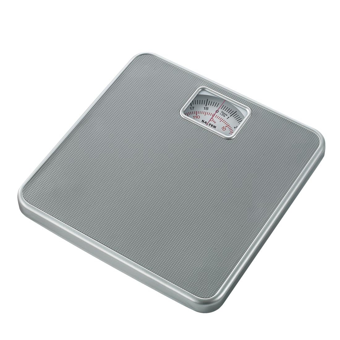 Salter Compact Mechanical Bathroom Scales – Easy to Read Analogue Dial, Fast + Reliable Weighing, Sturdy Platform, 120kg Capacity, No Buttons / Batteries, Hassle Free, 15 Year Guarantee - Silver FKA Brands Ltd 433 SVDR Mechanical Scales