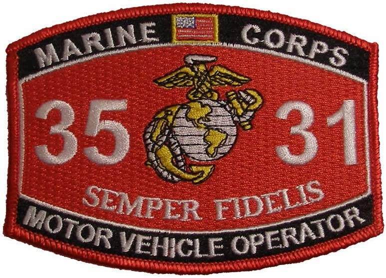 Marine Corps 3531 Motor Vehicle Operator MOS Patch - Veteran Owned Business  by McG: Amazon.co.uk: Kitchen & Home