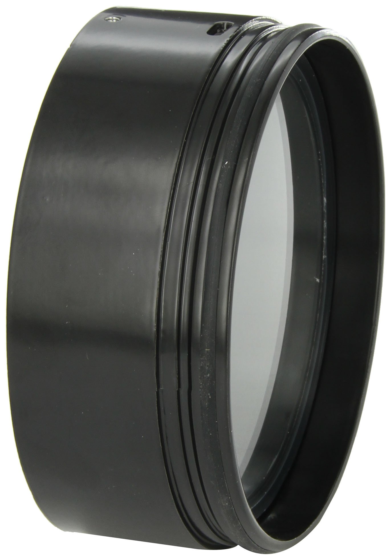RAB Lighting HH1B H System Hood, Aluminum, 5-5/8'' Diameter x 2-1/4'' Height, Black