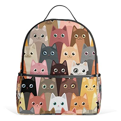 7d1a614c7576 hot sale 2017 JSTEL Cartoon Cats School Backpack 4th 5th 6th Grade for Boys  Teen Girls