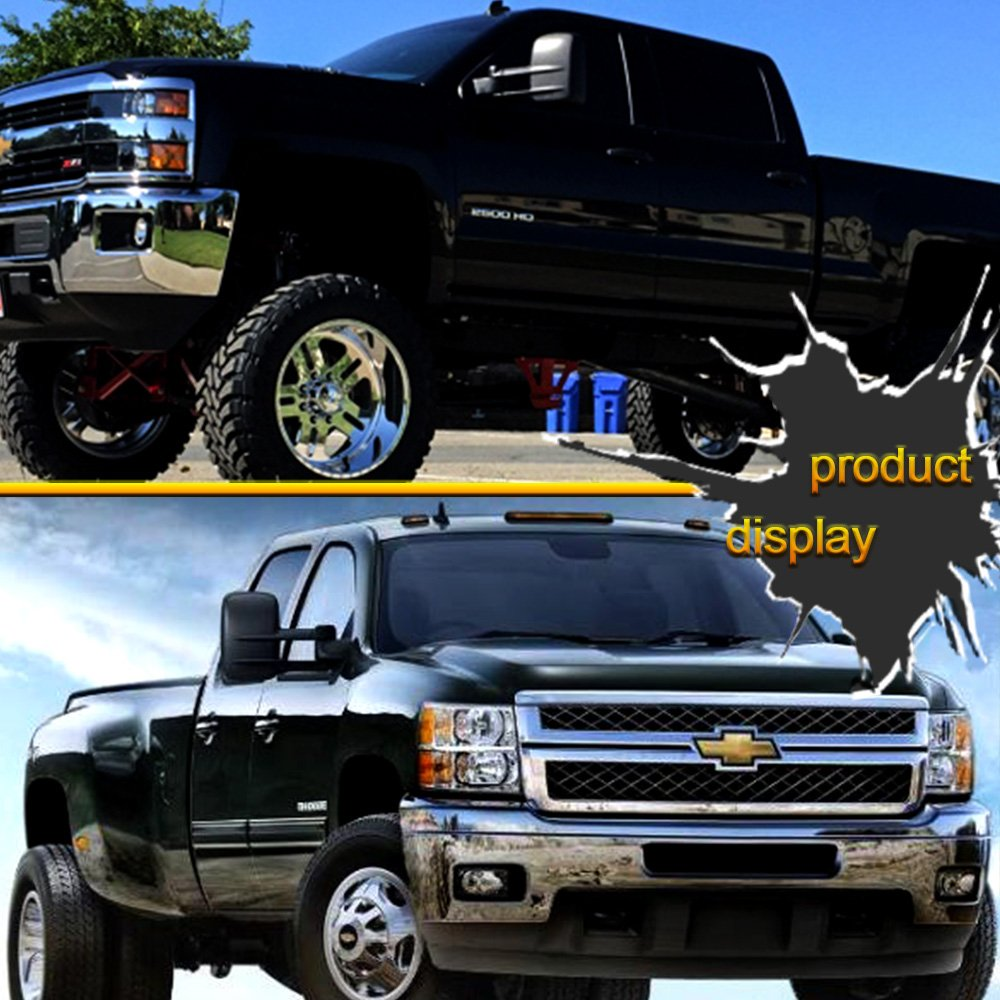 Convex Glass Manual Controlling Telescoping Folding 050339-5206-1059378866 Fit 07 New Body Style SCITOO Towing Mirrors Chevy GMC Exterior Accessories Mirrors 2008-2013 Silverado Sierra 1500 2500HD 3500