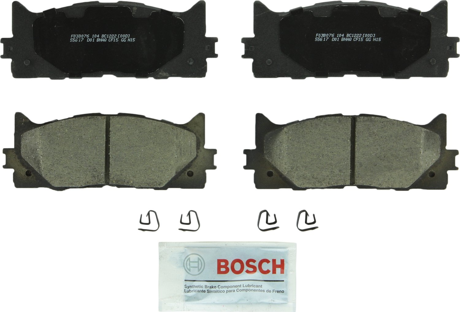 Bosch BC1222 QuietCast Premium Disc Brake Pad Set