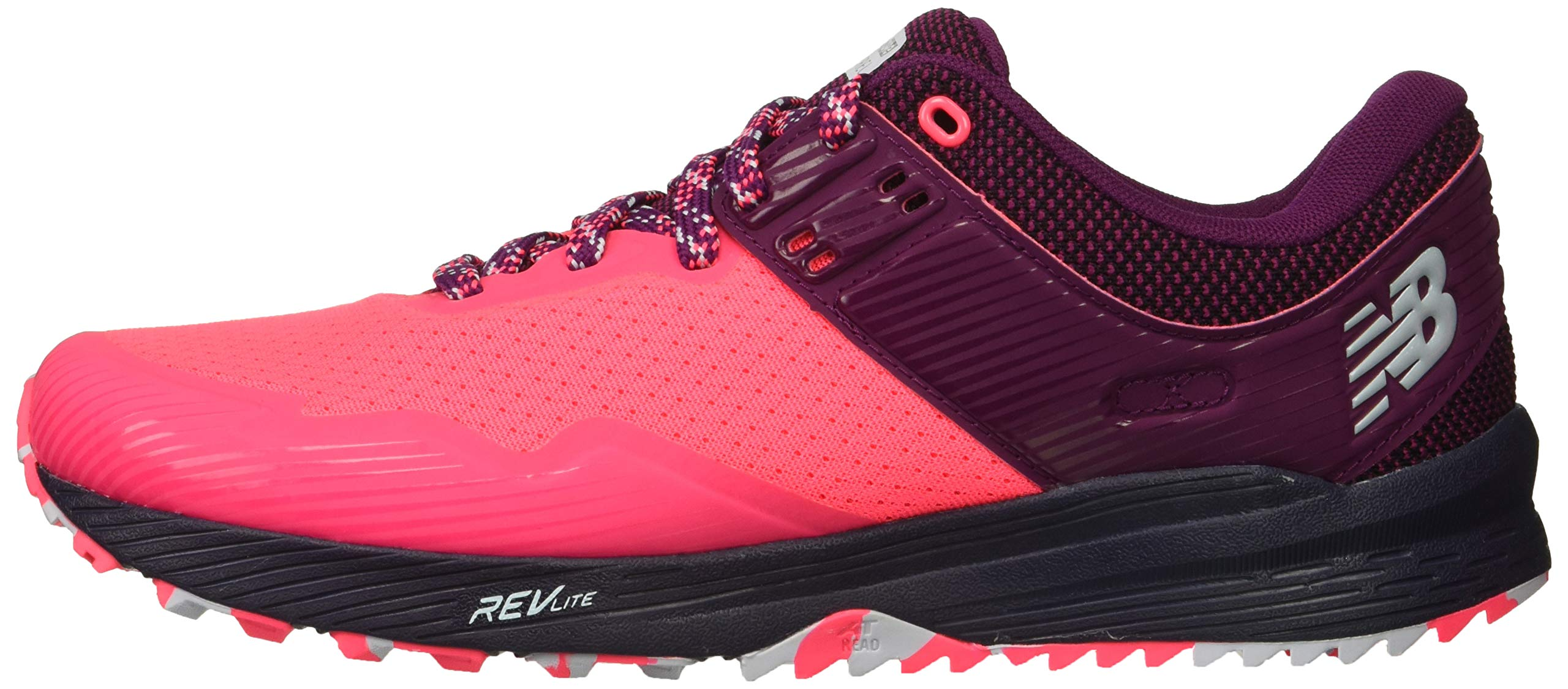 New Balance Women's Nitrel V2 FuelCore Trail Running Shoe Pink zing/Claret/Pigment 5 B US by New Balance (Image #5)