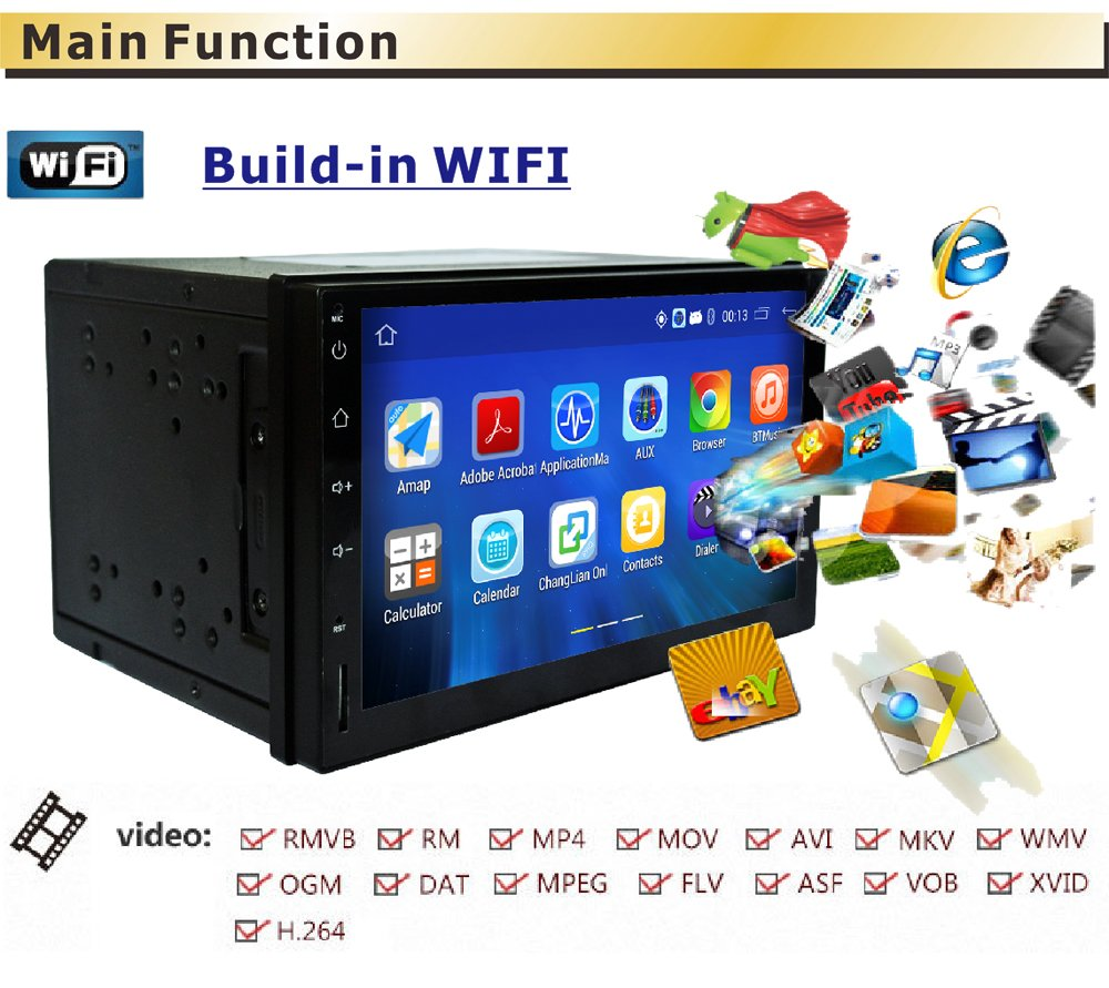 Panlelo Pa 09yz16 7 Inch 2 Din Head Unit Android 51 Quad Core Ram Radio Wiring Harness Adapter 1761 Furthermore Toyota 1g Rom 16g Gps Navigation Car Stereo Audio 1080p Video Player Built In Wi Fi