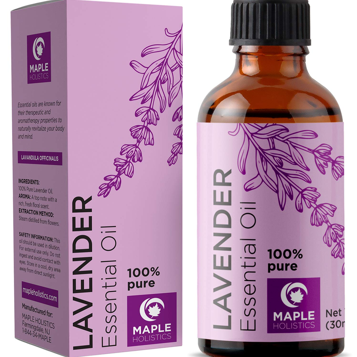 Pure Lavender Essential Oil for Skin and Hair - Therapeutic Grade Essential Oil for Sleep - Natural Stress Relief for Women and Men - Lavender Aromatherapy Oil for Anxiety - Hypoallergenic Detergent