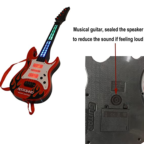 Amazon.com: RuiyiF Guitar for Toddler Kids Beginners Toy Guitar for Boys Girls 21Inch - Red Flame: Toys & Games