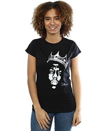 fb70244dd2fef Notorious Big Women s Biggie Crown Face T-Shirt at Amazon Women s ...