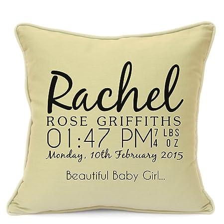 Personalised Birthday Gifts For Kids Baby Boys Girls Childrens Newborn Toddler Handmade Birth Name Cotton Cushion