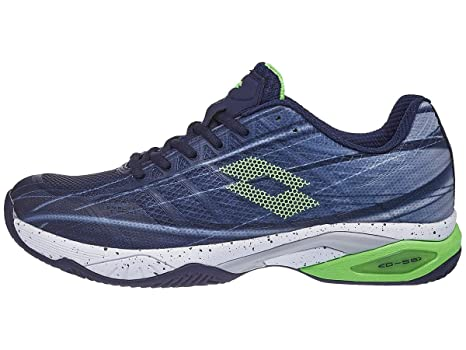Amazon.com: Lotto Mirage 300 CLY Mens Navy/Green 12.0 ...
