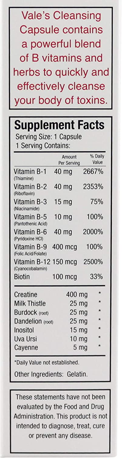 Image result for vale cleansing capsule supplement facts