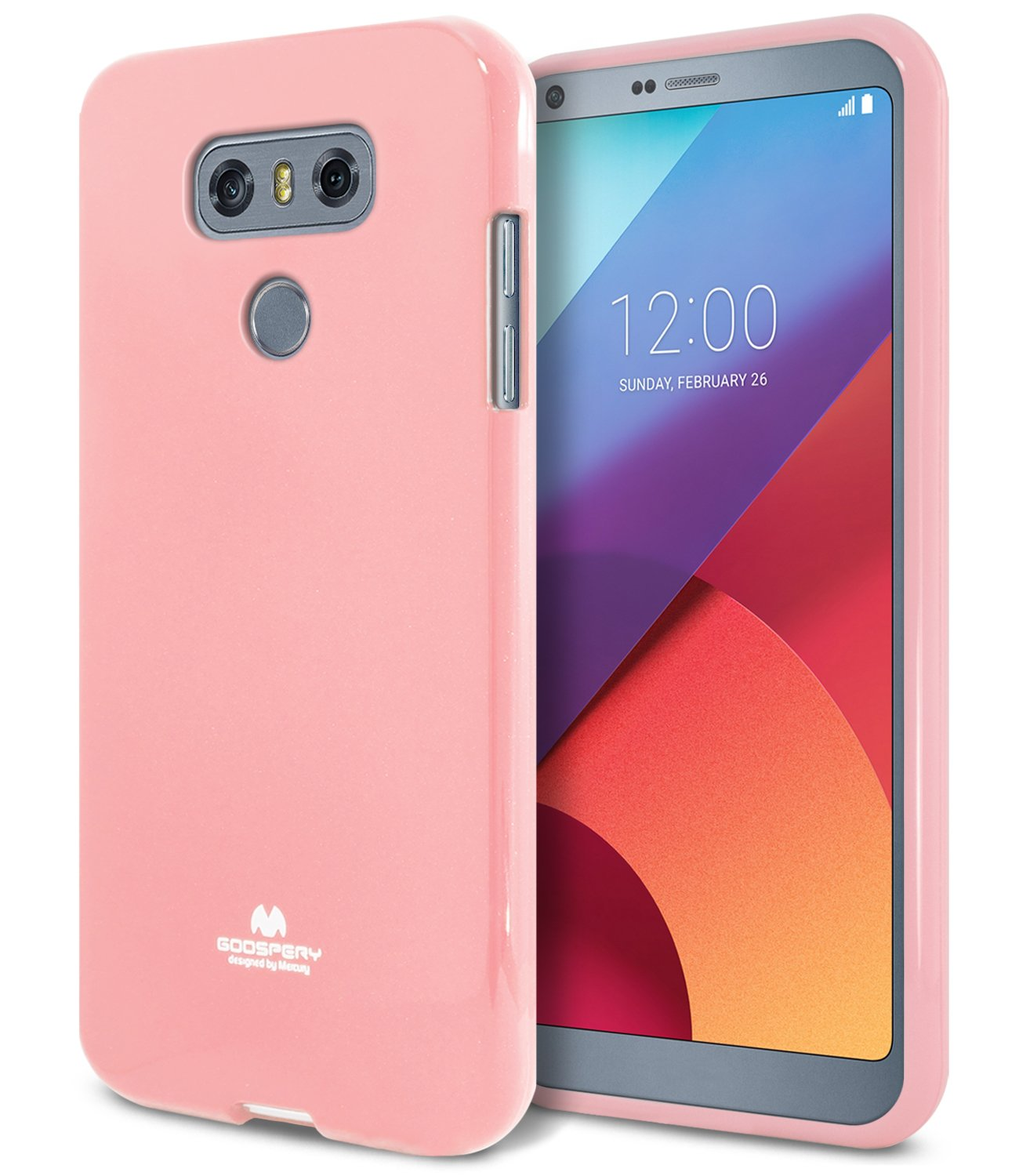 Lg G6 Case Thin Slim Goospery Flexible Color Pearl Iphone 7 Soft Feeling Jelly With Hole Black Rubber Tpu Lightweight Bumper Cover Impact Resistant For Pink