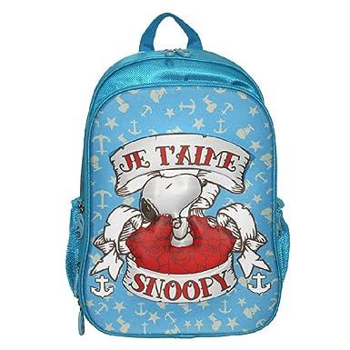 YOURNELO Kid s Cute 3D Stereo Snoopy Rucksack School Backpack Bookbag for Boys  Girls (Blue 1 75cf9d7cf992e