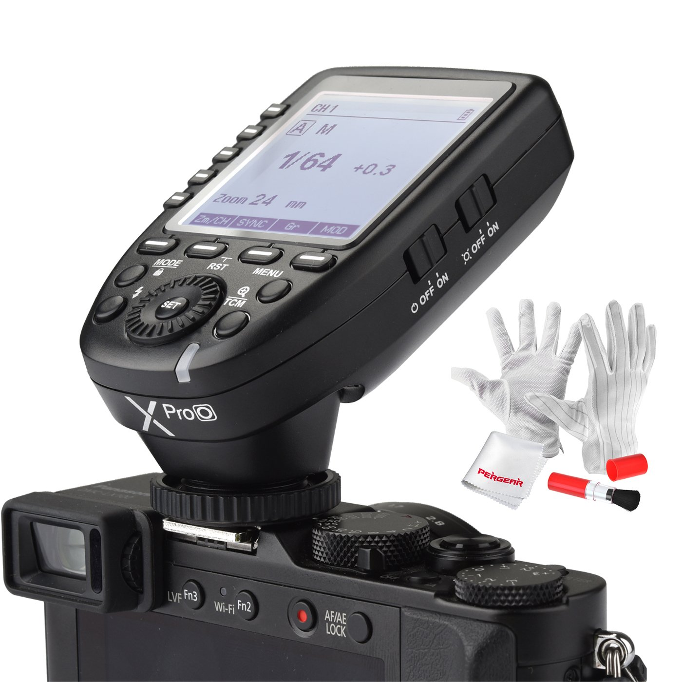 Godox Xpro-O for Olympus Panasonic TTL Wireless Flash Trigger 1/8000s HSS TTL-Convert-Manual Function Large Screen Slanted Design 5 Dedicated Group Buttons 11 Customizable Functions by Godox