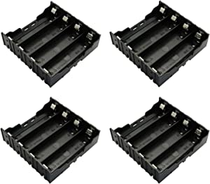 RuiLing 4-Pack 18650 Battery Holder 4 Slots x 3.7V Battery Storage Case DIY Batteries Clip Box with Pin
