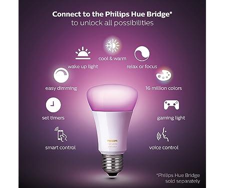 Philips 464487- Hue A19 Smart LED Light Bulb