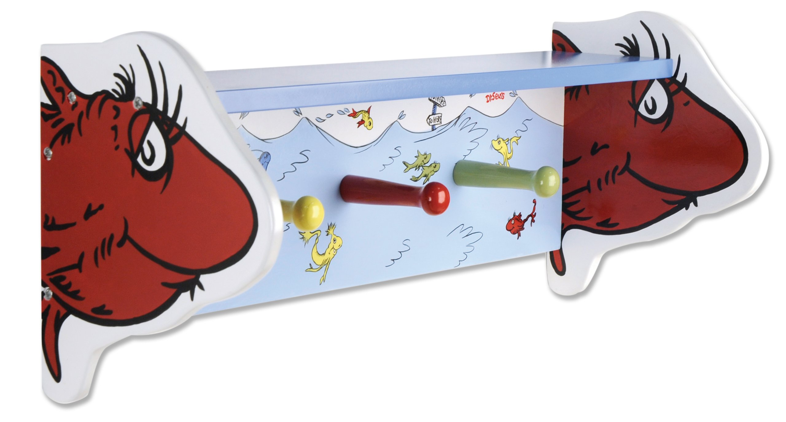 Trend Lab One Fish Two Fish Shelf with Pegs Decor, Dr. Seuss by Trend Lab