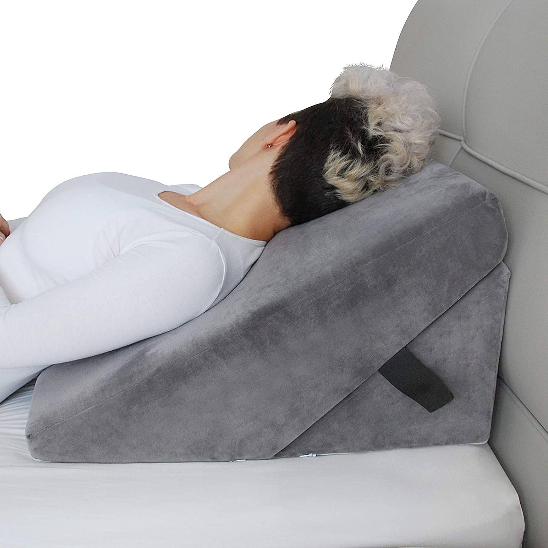 45D Memory Foam Sleep Back Bed Wedge Support Pillow Cervical Neck Leg Pillows US