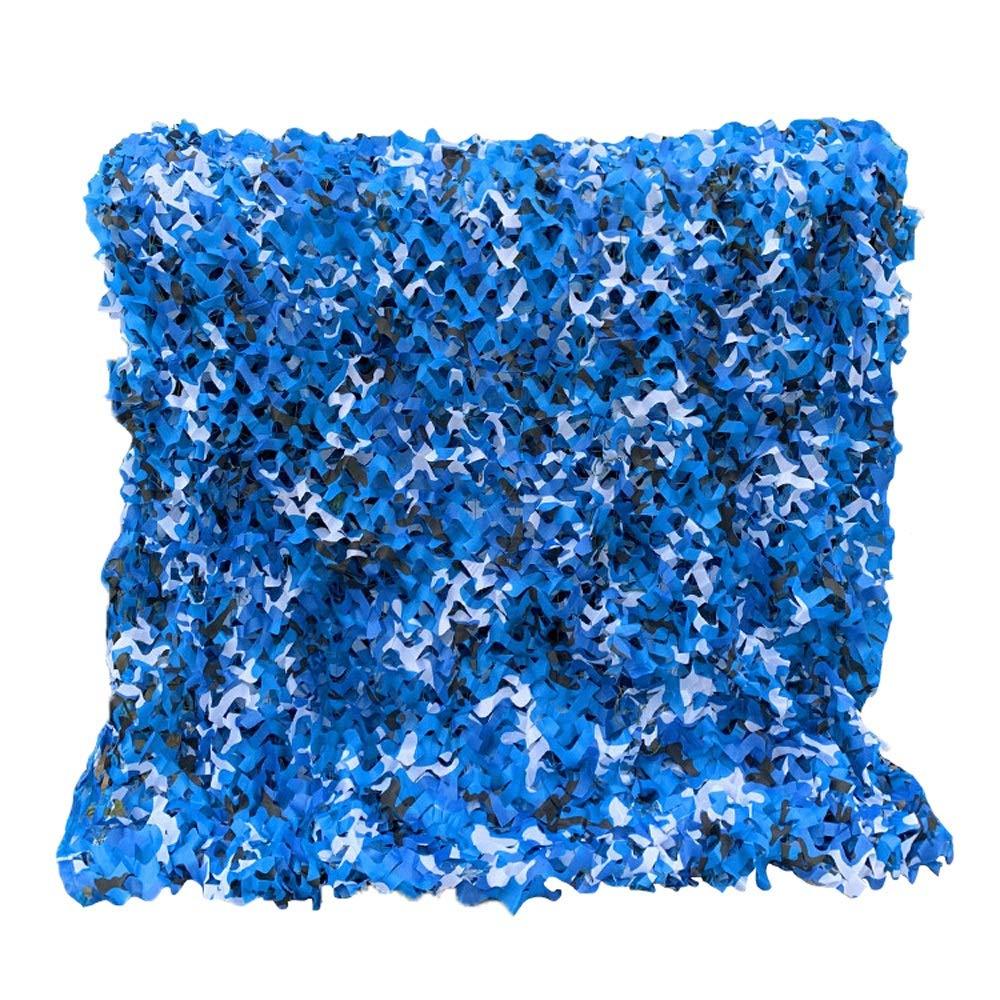 BoPin 迷彩ネット、オックスフォード生地サイズはカスタマイズ可能迷彩メッシュナイロンロープ織メッシュルームデコレーション生地、30サイズ カモネット (Color : 青, Size : 5X8M) 青 5X8M