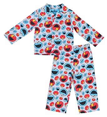 670d3dcd7419 Sesame Street Boys Pajamas Set - 2-Piece Long Sleeve Pajama Set (Grey