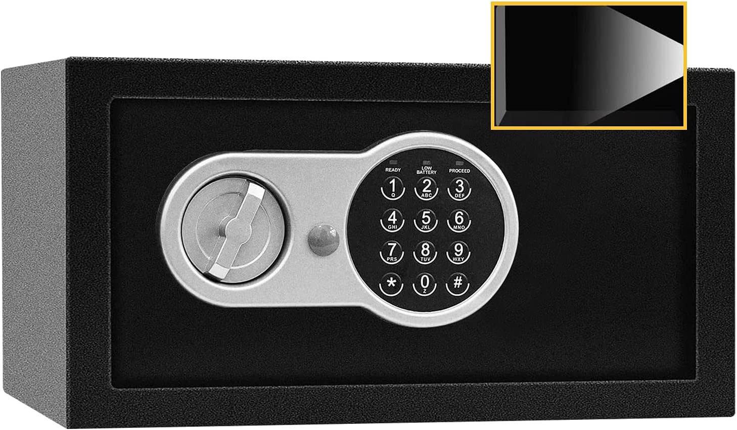 Sdstone Safe Box with Sensor Light, Fire Retardant Safe with Lock,Electronic Safe with Digital Keypad for Home,Wall or Cabinet Anchoring Design. Protect Cash, Jewelry, 0.8 Cubic Feet