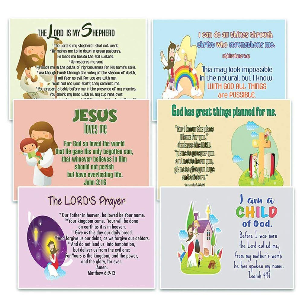 NewEights Christian Postcards Cards for Kids (60 Pack) with encouraging  bible messages - Great stocking stuffers for postcard collectors,