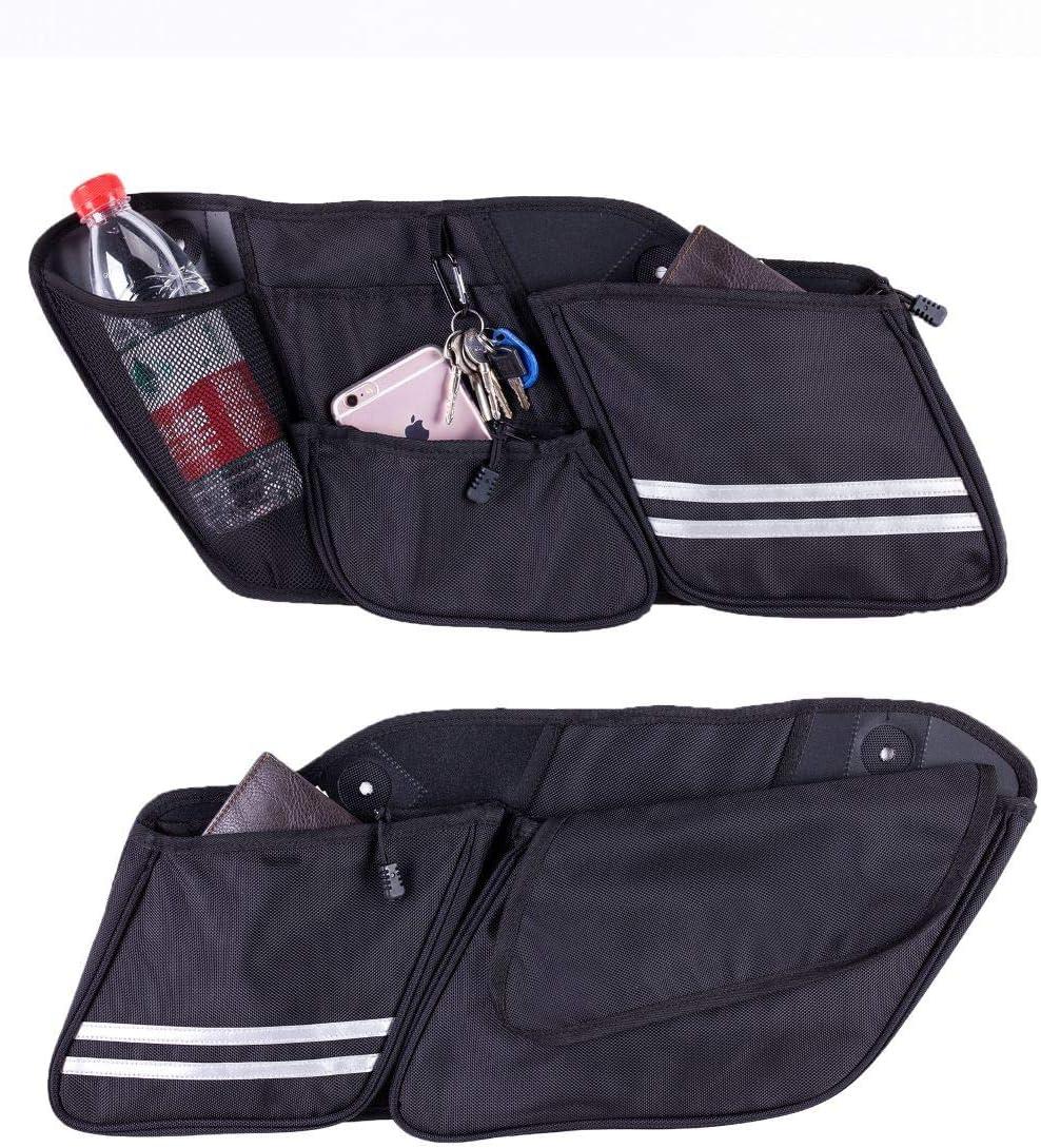 Hopider Saddlebag Side Organizers Storage Bag for 2014-2020 Touring Street Glide Road King Road Glide Electra Glide 2 pack