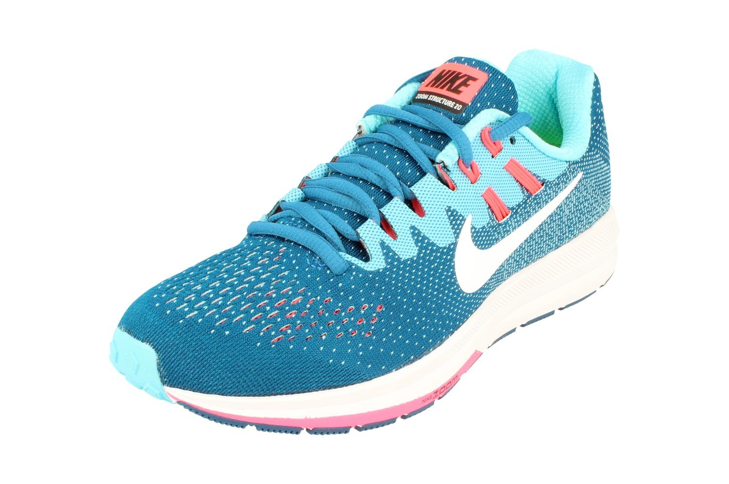 Nike Wmns Air Zoom Structure 20, Industrial Blue/White-Pola: Amazon.es: Deportes y aire libre