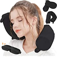 Lucear Twist Memory Foam Travel Pillow Neck, Chin, Lumbar Leg Support Traveling on Airplane, Bus, Train at Home