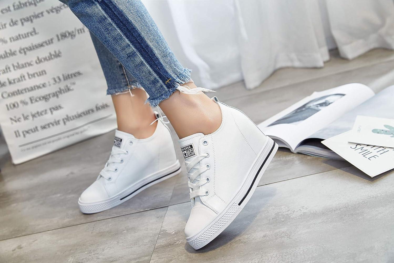 KPHY Damenschuhe/Leder Schuhe.Weiße Innen Damenschuhe Medium Classic Student Schuhe.Weiße Damenschuhe/Leder 37 - 635139