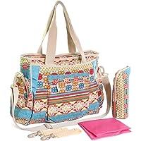 KF Baby Bohemian Nappy Bag Value Set, Crossbody strap, Stroller hooks, more
