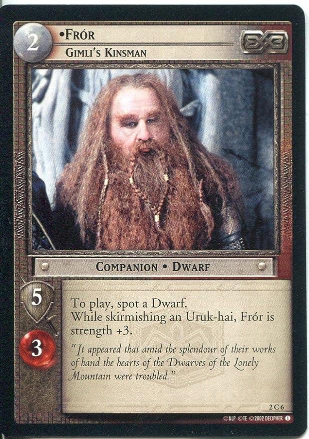 Lord Of The Rings CCG Card MoM 2.C6 Fror Gimli/'s Kinsman